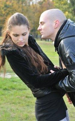Pushing Girlfriend Away